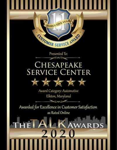 Chesapeake Service Center wins 2020 Talk Award