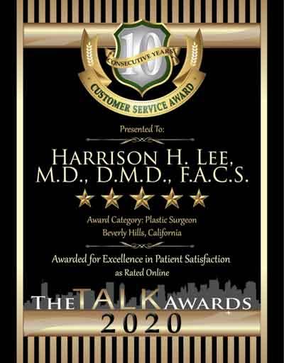 Harrison H. Lee, M.D., D.M.D., F.A.C.S. wins 2020 Talk Award