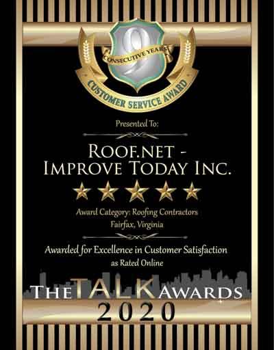 Improve Today Inc.-Roof.net wins 2020 Talk Award