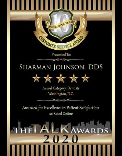 Sharman Johnson, D.D.S. wins 2020 Talk Award