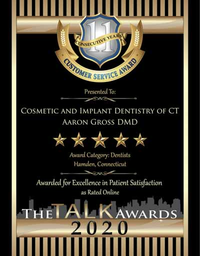 Cosmetic and Implant Dentistry of CT wins 2020 Talk Award