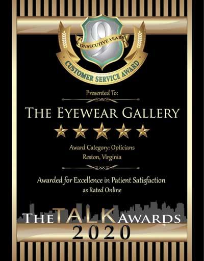 The Eyewear Gallery wins 2020 Talk Award