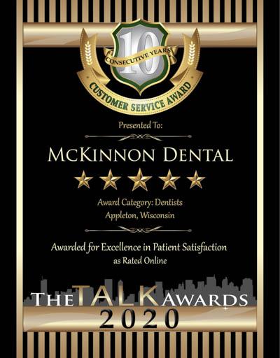 McKinnon Dental wins 2020 Talk Award