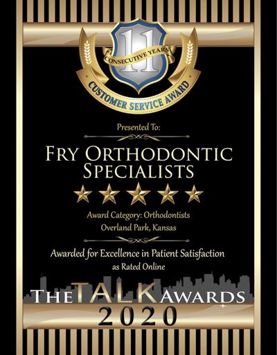 Fry Orthodontic Specialists wins 2020 Talk Award