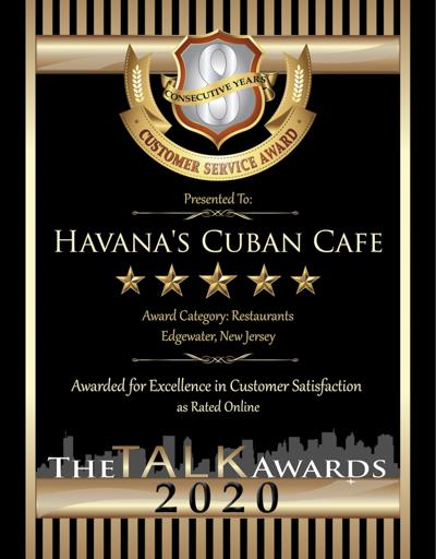 Havana's Cuban Cafe wins 2020 Talk Award