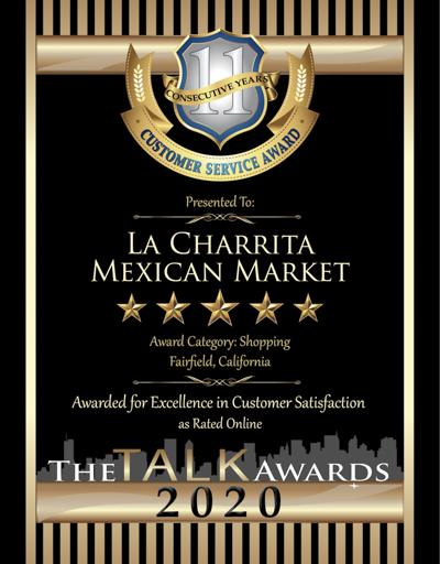 La Charrita Mexican Market wins 2020 Talk Award