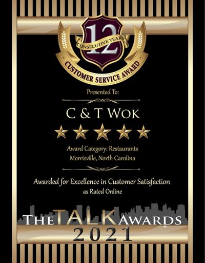 C & T Wok wins 2021 Talk Award