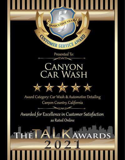 Canyon Car Wash wins 2021 Talk Award