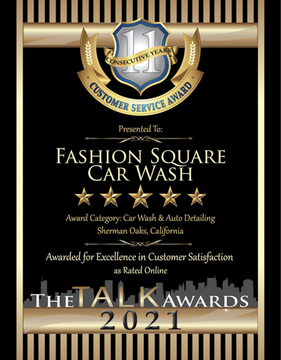Fashion Square Car Wash wins 2021 Talk Award
