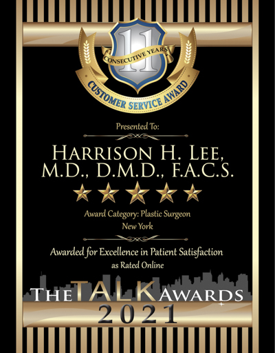 Harrison H. Lee, M.D., D.M.D., F.A.C.S. wins 2021 Talk Award