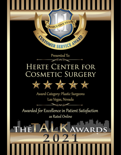 Herte Center for Cosmetic Surgery wins 2021 Talk Award