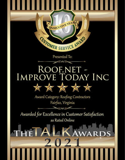 Improve Today Inc.-Roof.net wins 2021 Talk Award