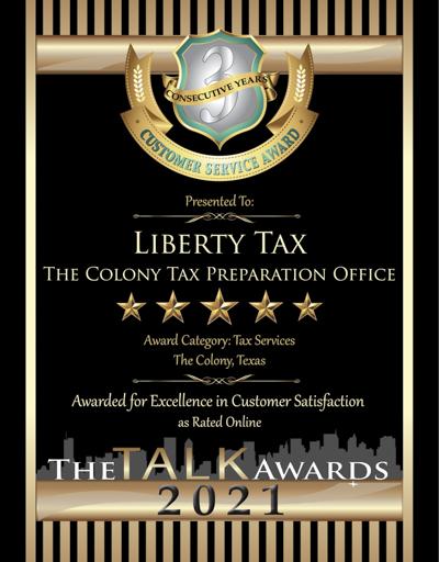 Liberty Tax wins 2021 Talk Award