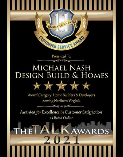 Michael Nash Design Build & Homes wins 2021 Talk Award