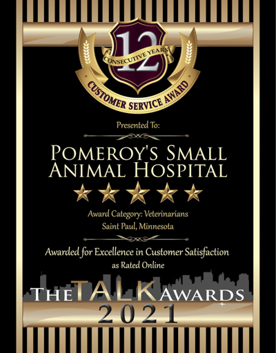 Pomeroy's Small Animal Hospital wins 2021 Talk Award