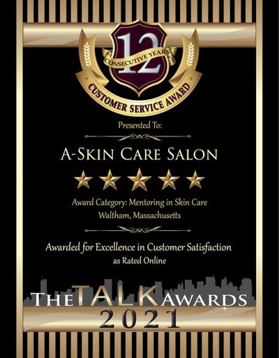 A-Skin Care Salon wins 2021 Talk Award