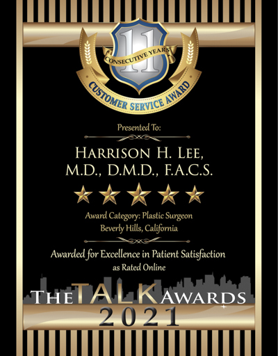 Harrison H. Lee, M.D., D.M.D., F.A.C.S. wins 2021 Talk Award