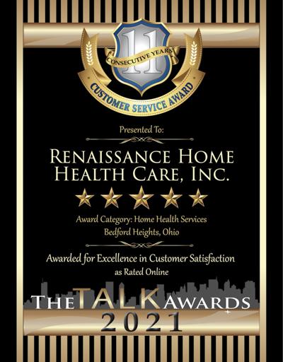 Renaissance Home Health Care wins 2021 Talk Award