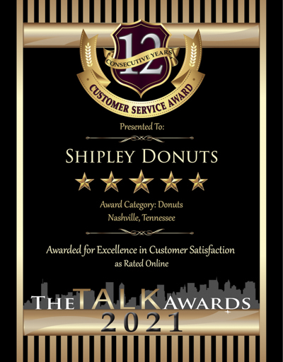 Shipley Donuts wins 2021 Talk Award