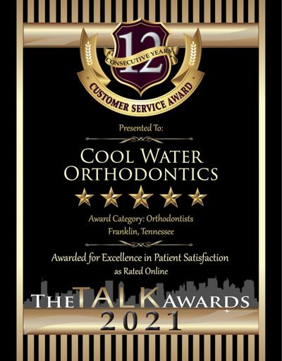 Cool Water Orthodontics wins 2021 Talk Award
