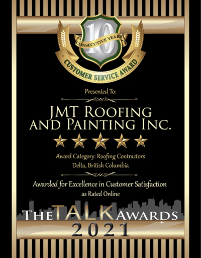 JMT Roofing and Painting Inc. wins 2021 Talk Award