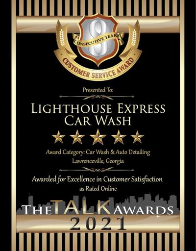 Lighthouse Express Car Wash wins 2021 Talk Award