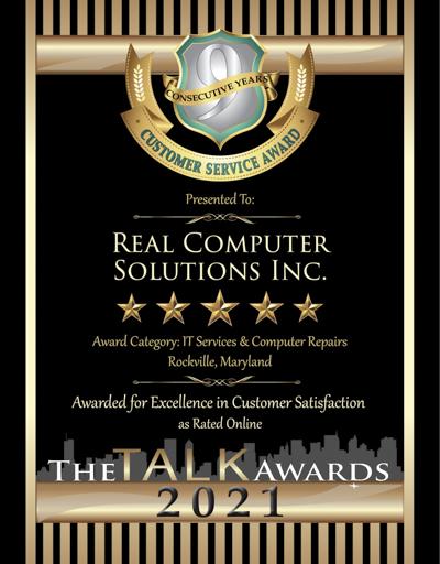 Real Computer Solutions Inc. wins 2021 Talk Award