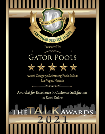 Gator Pools wins 2021 Talk Award