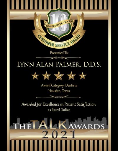 Lynn A. Palmer, D.D.S. wins 2021 Talk Award