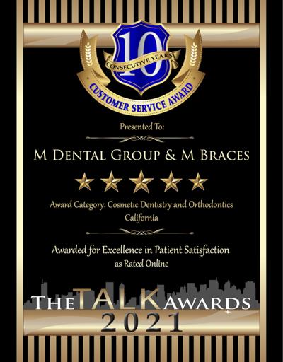 M Dental Group & M Braces wins 2021 Talk Award