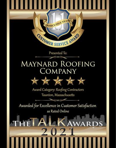 Maynard Roofing wins 2021 Talk Award