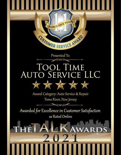 Tool Time Auto Service LLC wins 2021 Talk Award