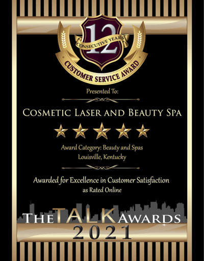 Cosmetic Laser and Beauty Spa wins 2021 Talk Award
