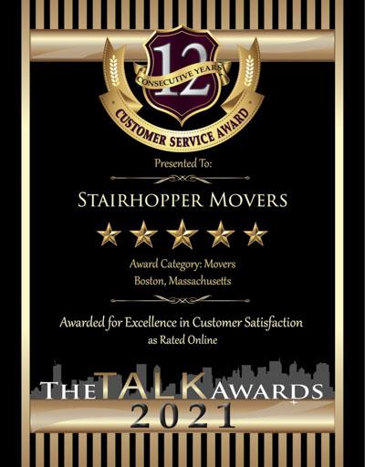 Stairhopper Movers wins 2021 Talk Award