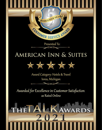 American Inn & Suites wins 2021 Talk Award